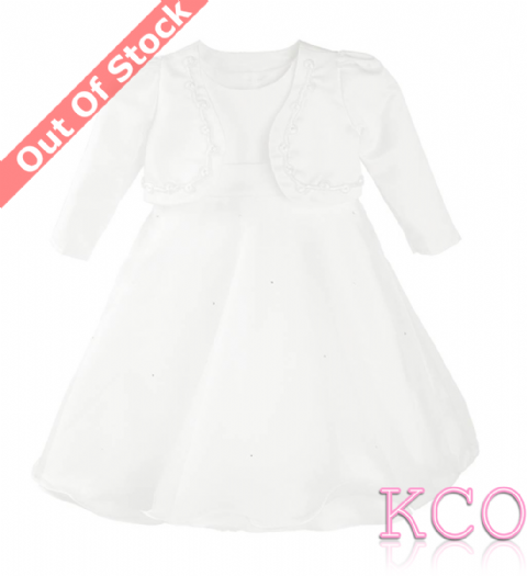 Braid Jacket Dress White/White~ Girls Dress